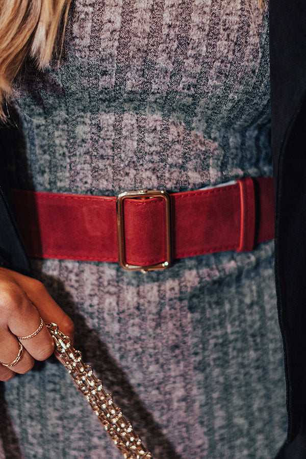 Make A Statement Belt In Wine