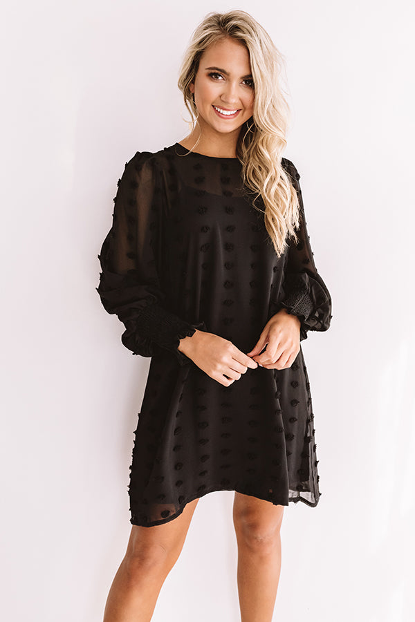Cocktails And Cuties Shift Dress In Black