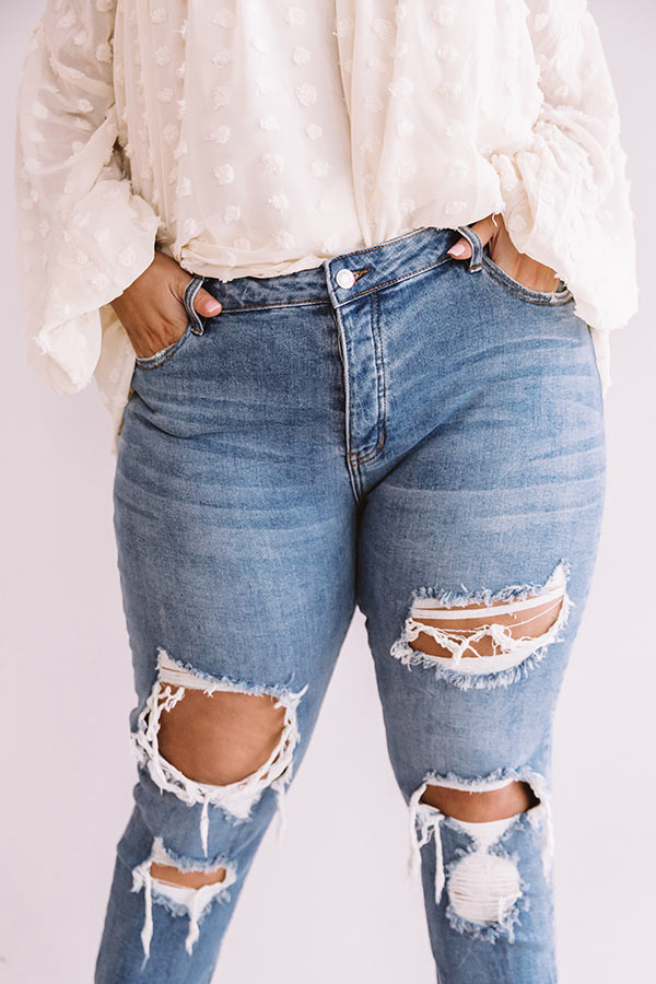 The Monroe Midrise Distressed Boyfriend Jean