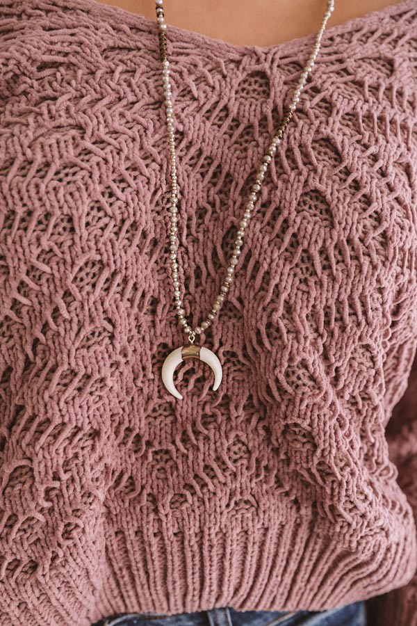 Center Of The Universe Necklace In Taupe