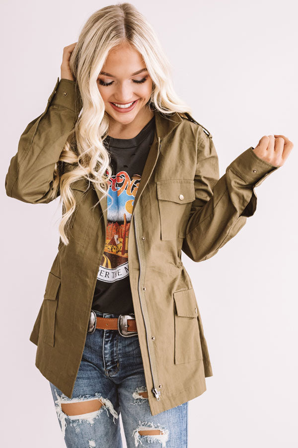 Central Park In Fall Cargo Jacket