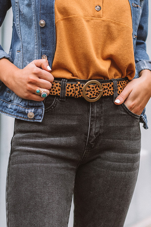 Saved By The Belle Cheetah Belt