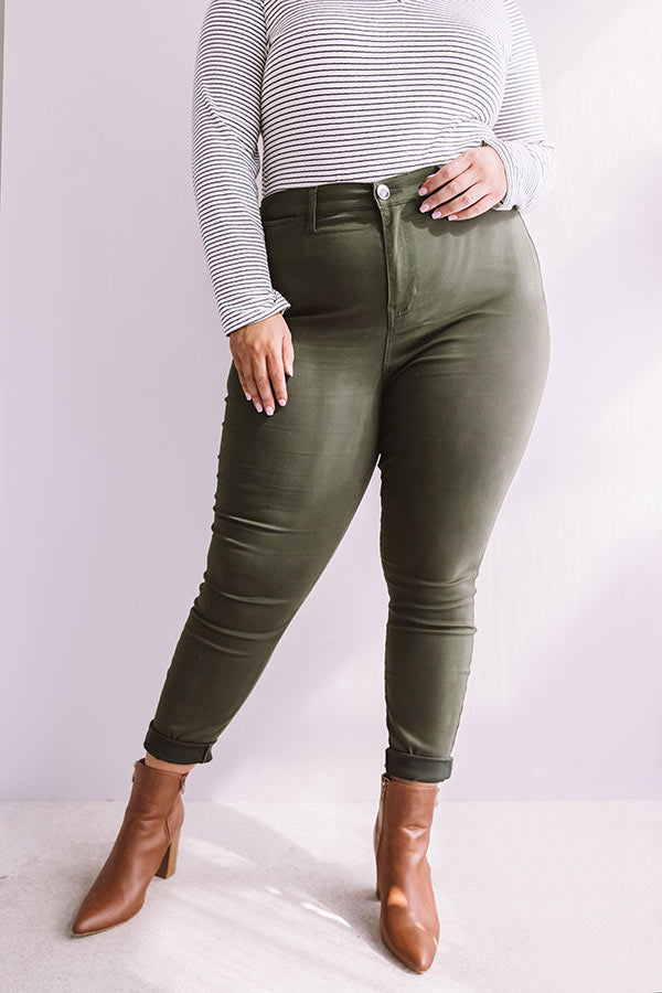 The Cordelia High Waist Skinny In Olive