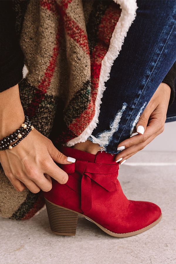 The Gracie Bootie In Red