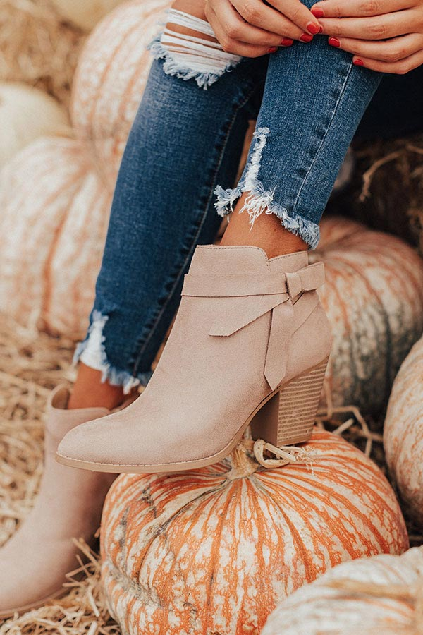 The Gracie Bootie In Birch