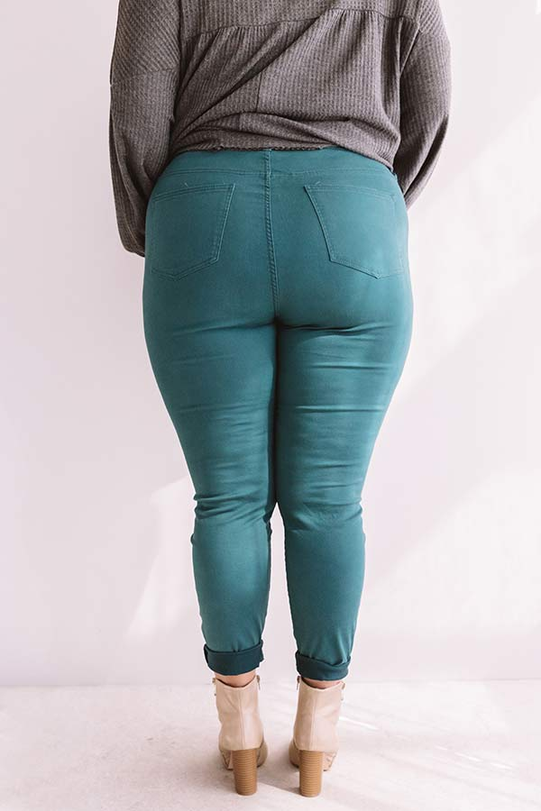The Cordelia High Waist Skinny In Teal