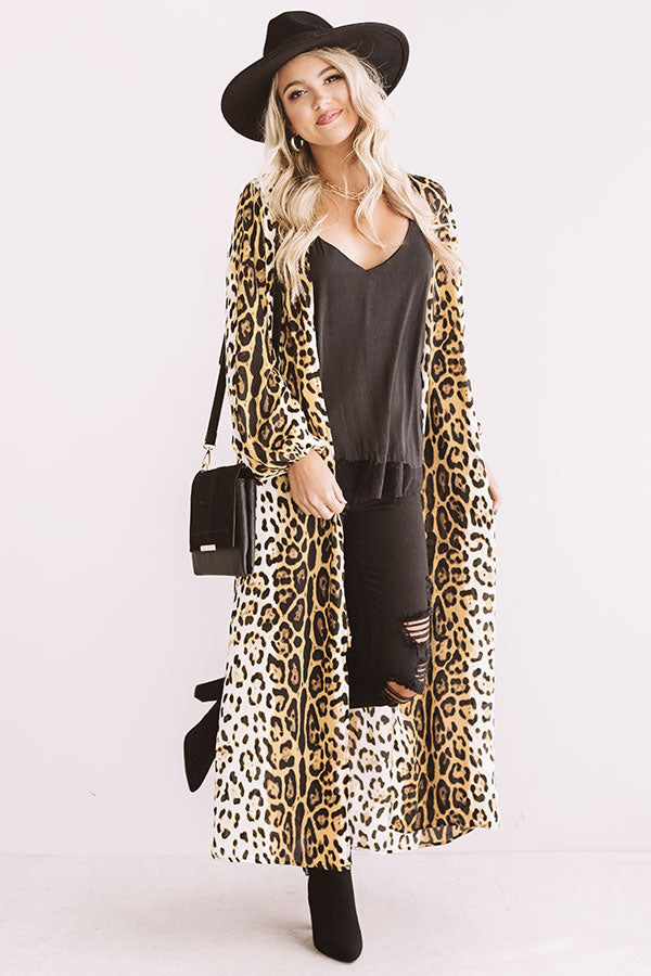 Weekend Ritual Leopard Duster