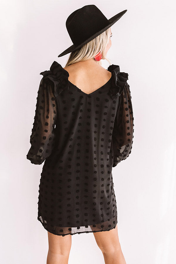 Romantic In Rome Shift Dress In Black