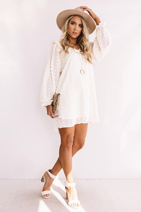 Romantic In Rome Shift Dress In Cream