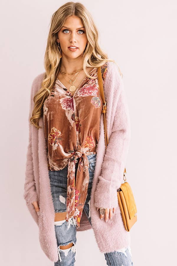 Beauty And Bubbles Velvet Floral Top