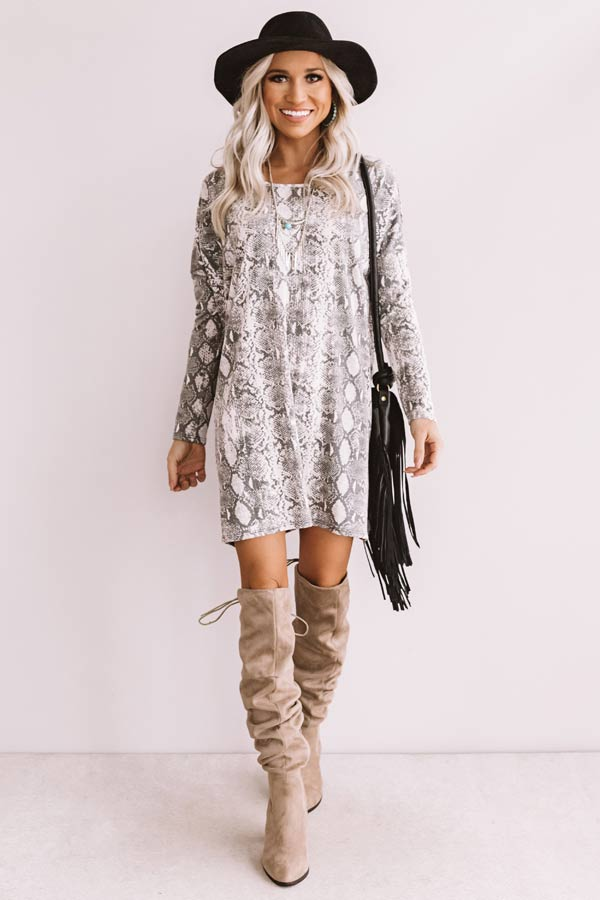 Sparks Fly Snake Print Shift Tunic