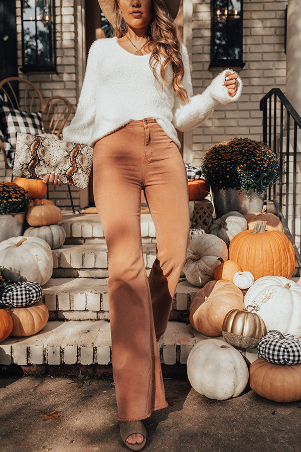 The Charli High Waist Pants In Light Rust