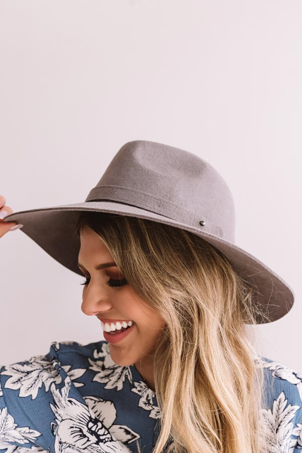 Classic Moment Wool Hat in Dark Grey