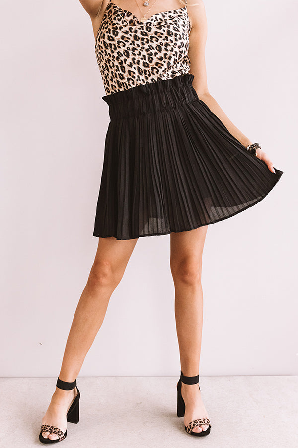 Cool And Collected Pleated Skort
