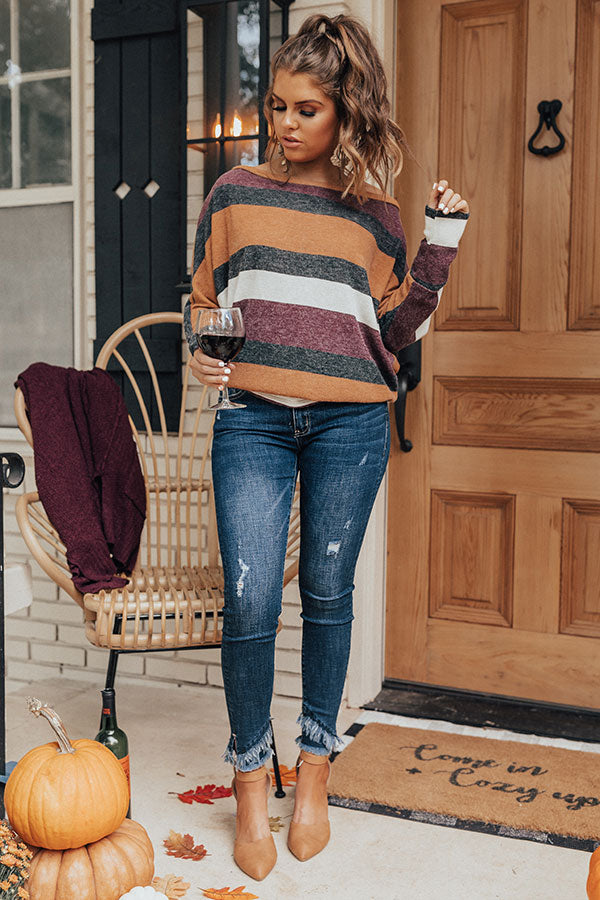 Sunset Sweetheart Stripe Sweater