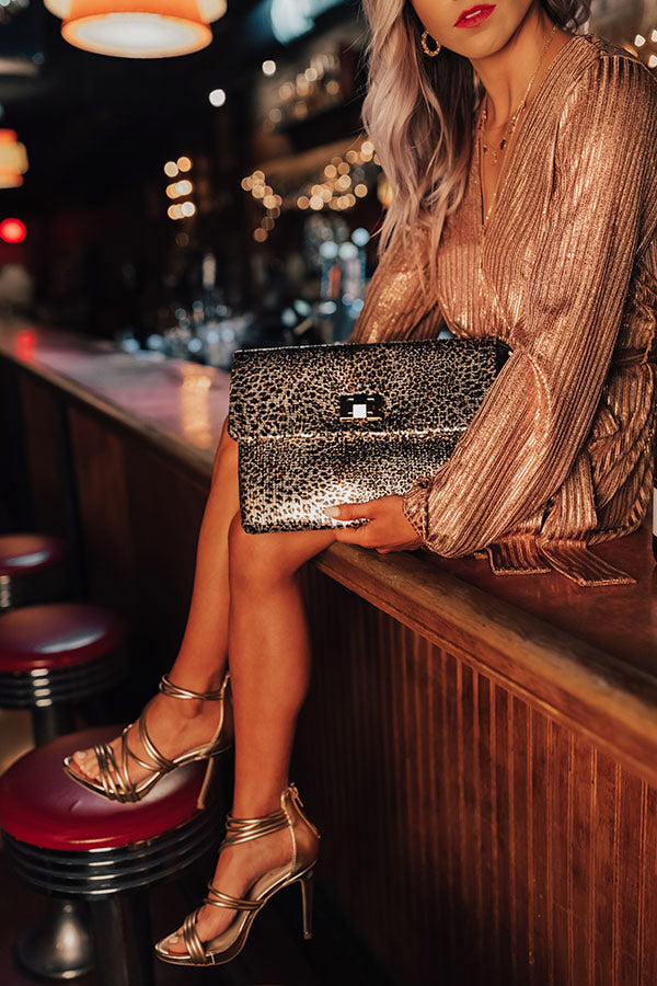 Chic On Command Leopard Clutch