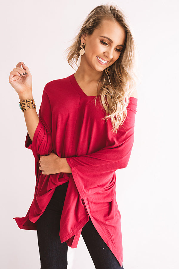Kisses By Midnight Shift Tunic In Crimson