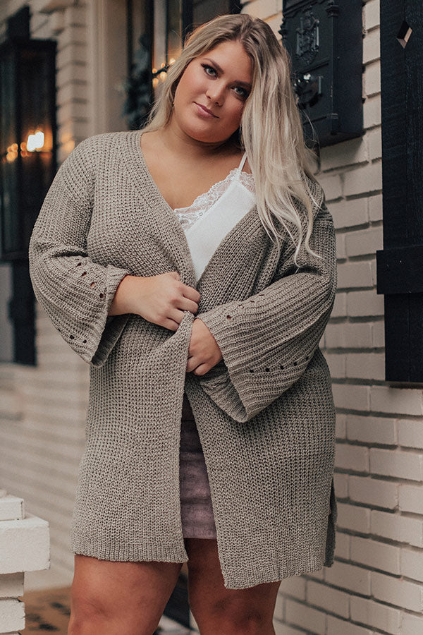 Clear Skies Knit Cardigan In Sage