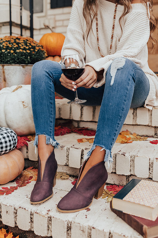 The Valerie Bootie In Windsor Wine