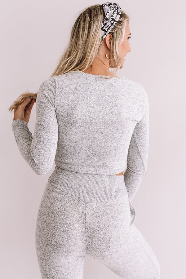 Newly Obsessed Crop Top In Grey
