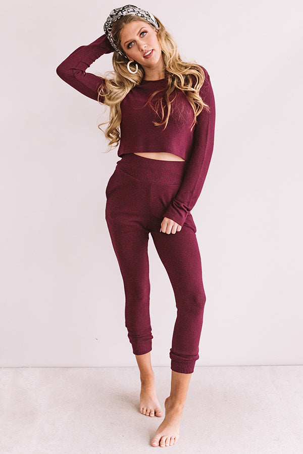 Newly Obsessed Joggers In Wine