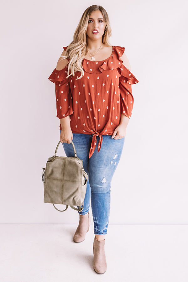Leaf It To Me Shift Top