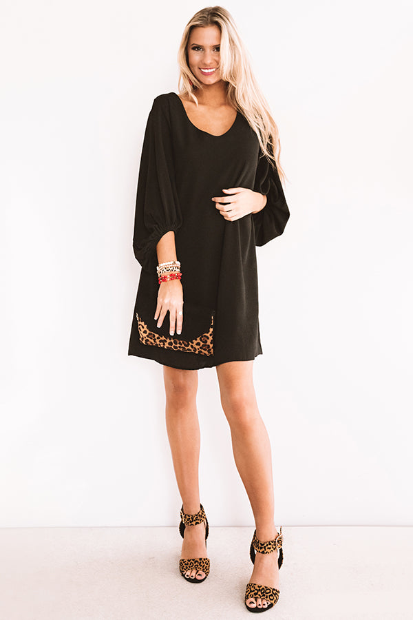Primped To Party Shift Dress In Black