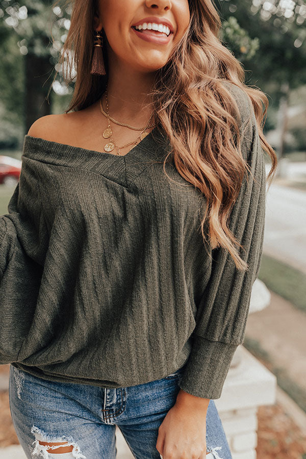 Cider And Spice Shift Top In Olive