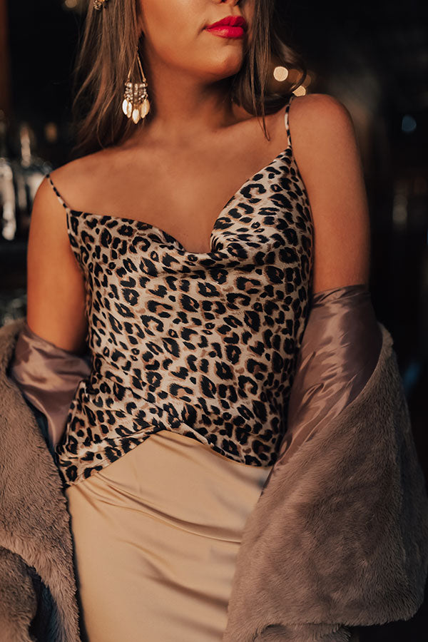 Close Up Ready Leopard Shift Tank