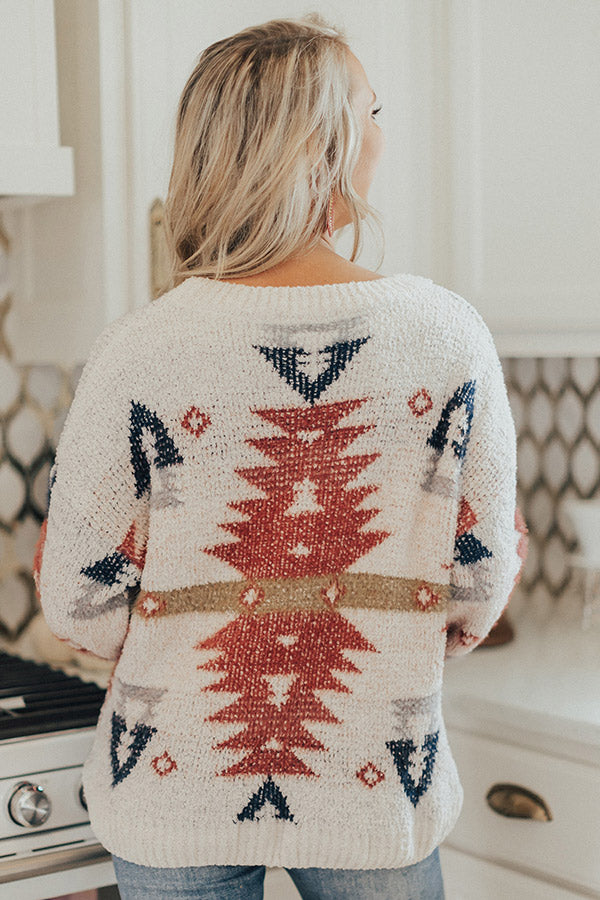 Warm Fuzzy Feels Knit Sweater In Ivory