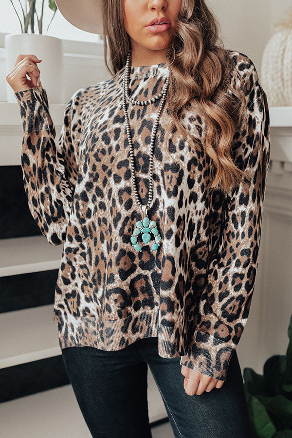 Morning Light Leopard Shift Top