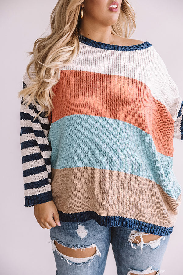 Finding Bliss Stripe Knit Sweater