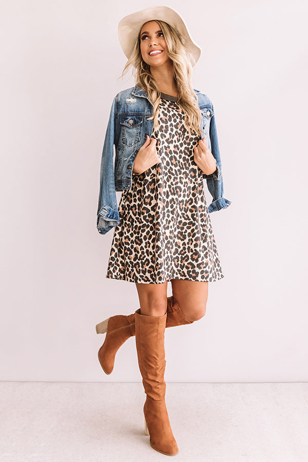 Skip The Beat Leopard Shift Dress
