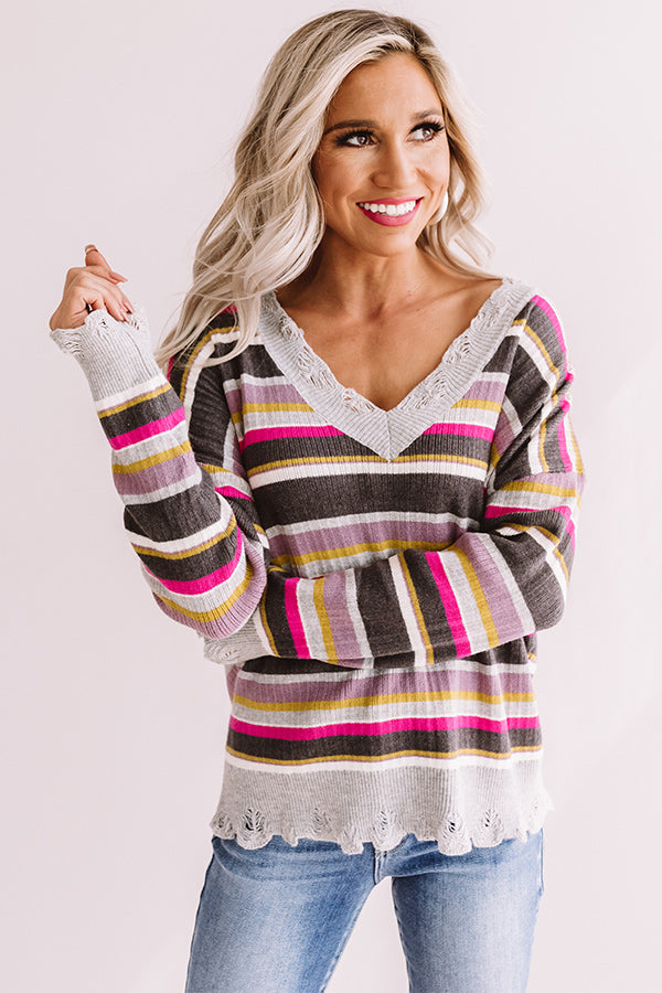 Sun Valley Slopes Stripe Shift Sweater