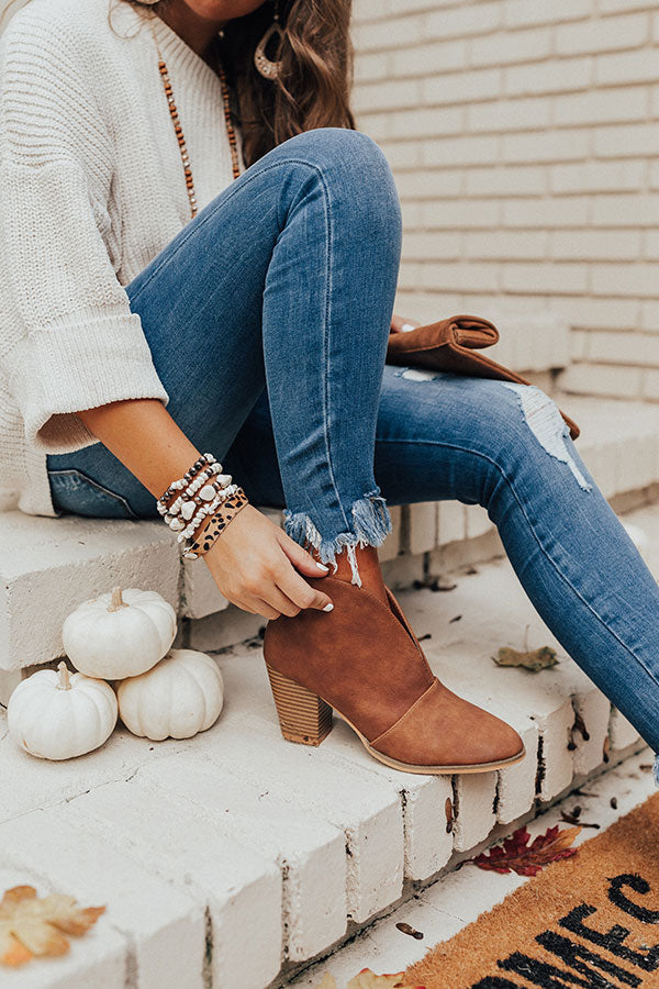 The Valerie Bootie In Brown