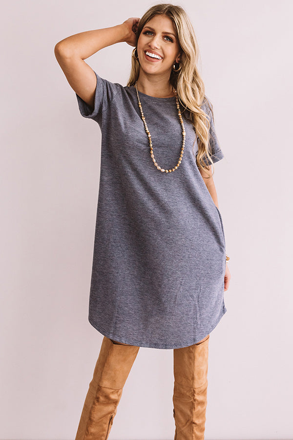 New Adventure T-Shirt Dress In Blue