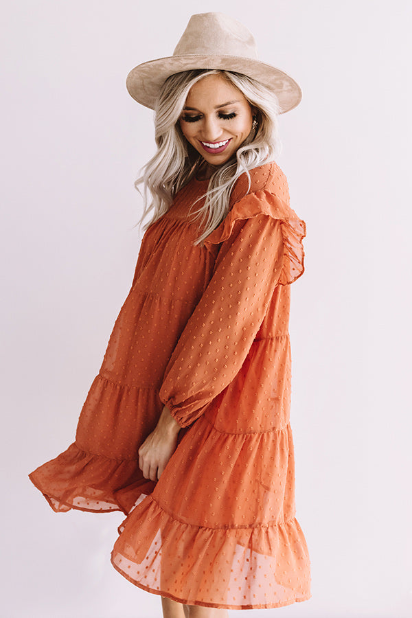 Pumpkin Spice Splendor Shift Dress In Pumpkin