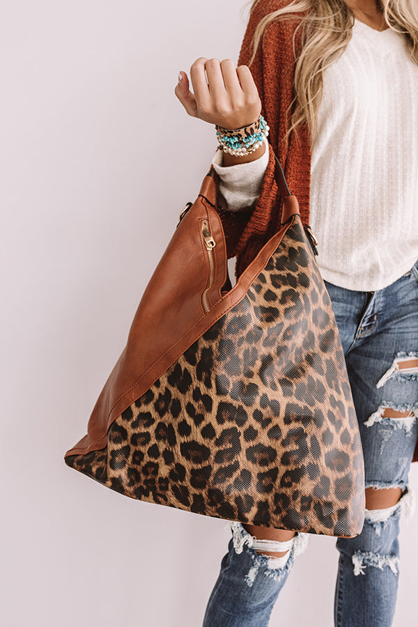 Tribeca Treasure Leopard Tote In Maple