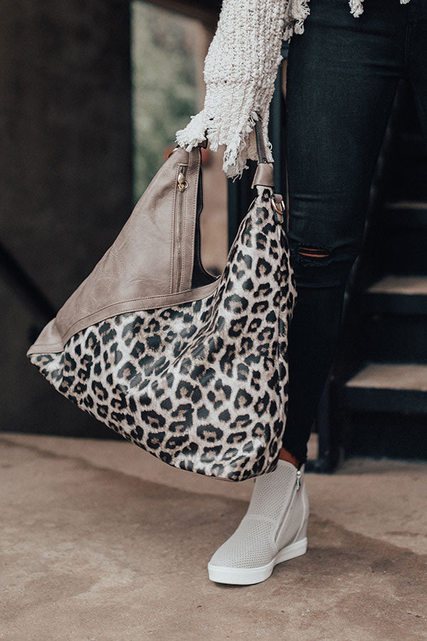 Tribeca Treasure Leopard Tote In Taupe