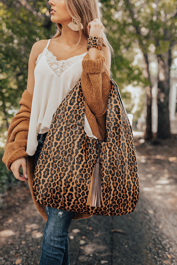 Serious Showstopper Leopard Tote in Golden Honey
