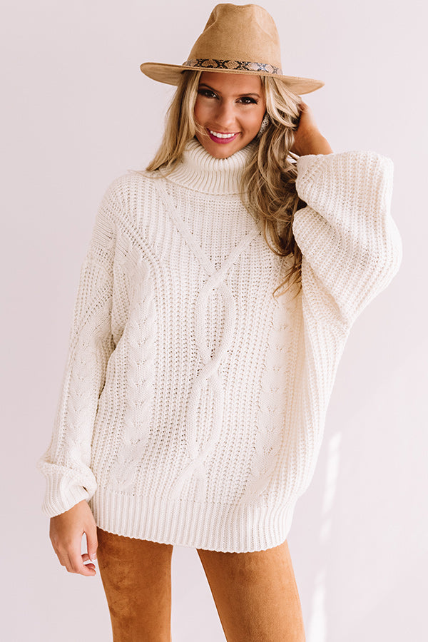 Saved By The Belle Knit Sweater In White