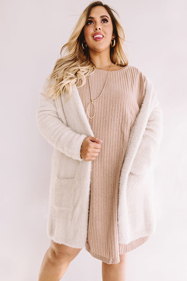 New Views Ultra Soft Cardigan In Birch