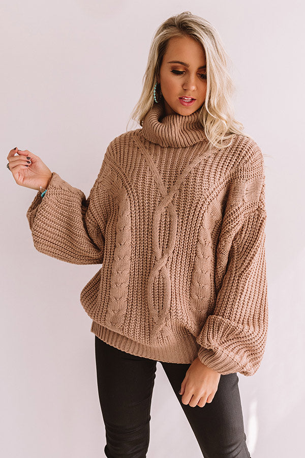Saved By The Belle Knit Sweater In Iced Latte