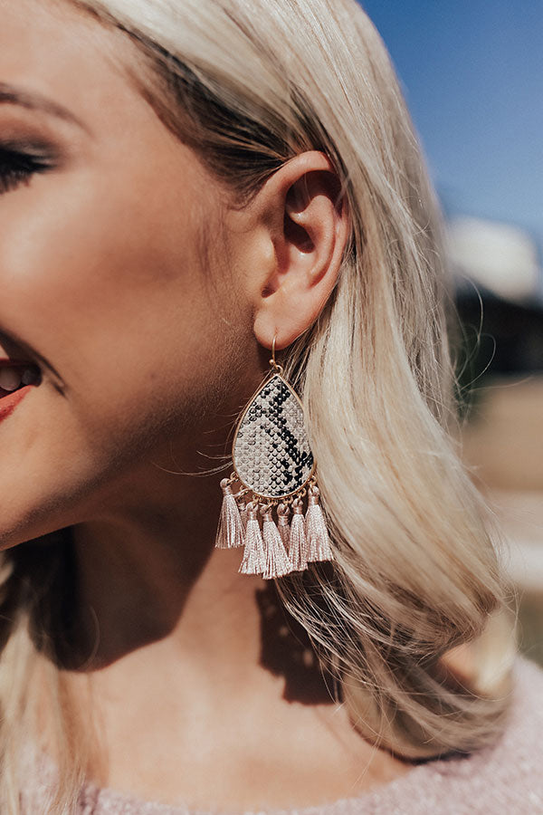 Private Suite Snake Print Earrings