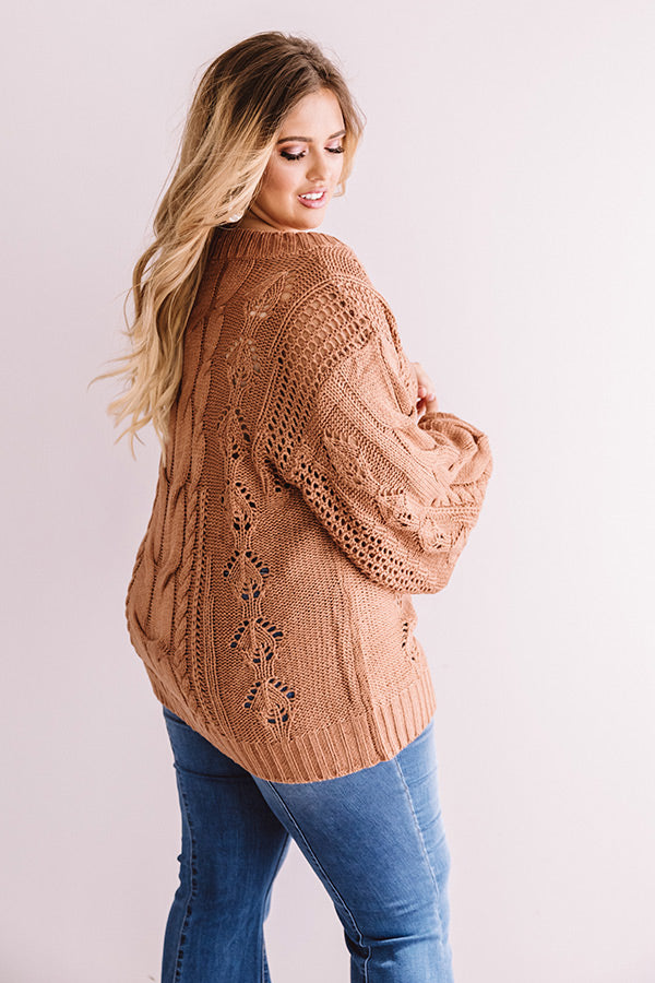 Cocoa Weather Knit Sweater In Rustic Rose