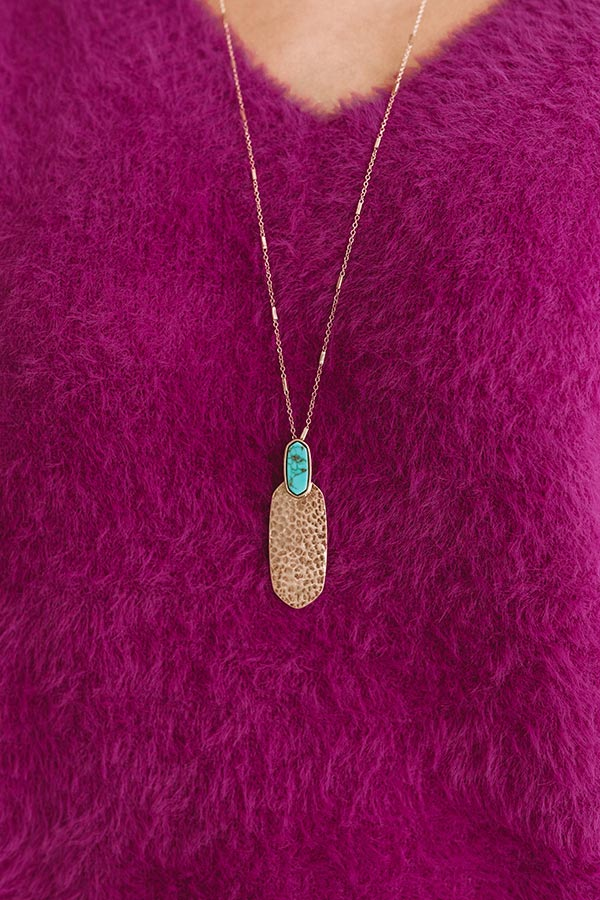 Haute Destination Necklace in Turquoise