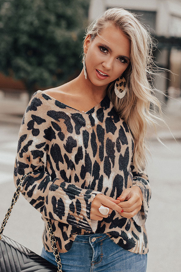 Perfectly Matched Leopard Shift Sweater