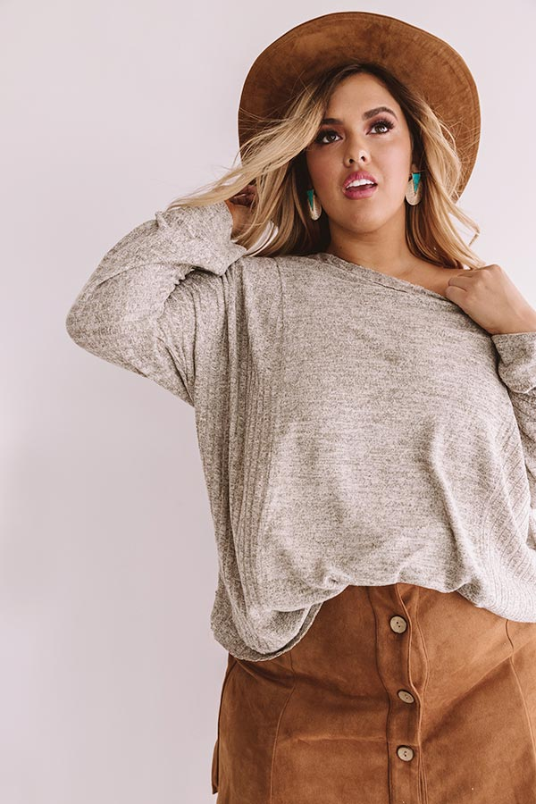 Change In The Air Shift Top In Taupe