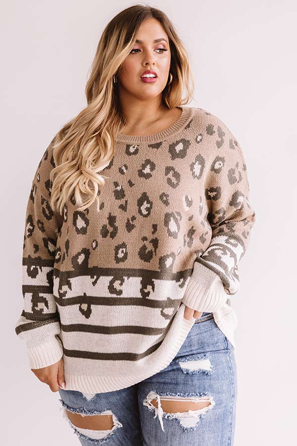 Chic Simplicity Leopard Sweater