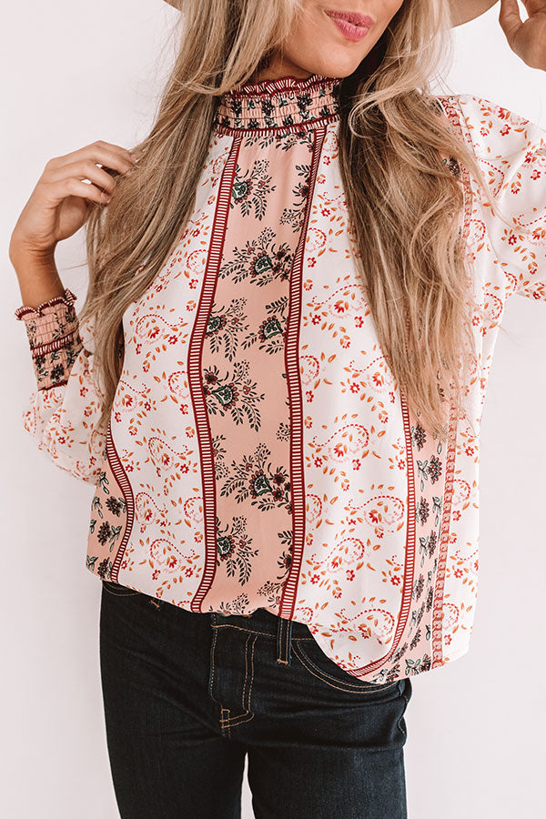 Downtown Chicago Floral Top